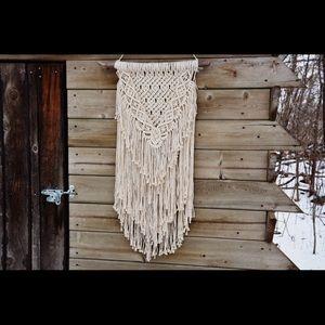 Large macrame wall hanging handmade